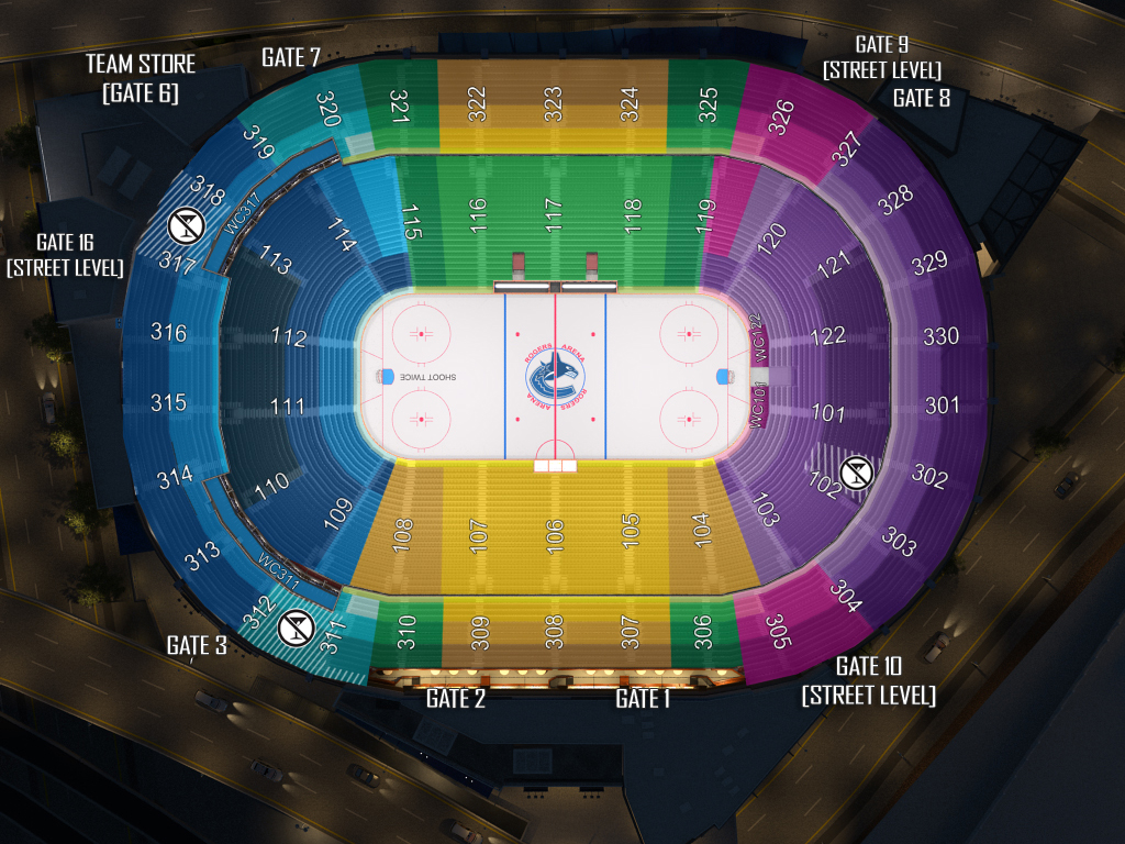 Canucks seating chart